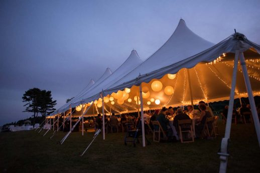 Backyard Tented Wedding in Harspwell Maine