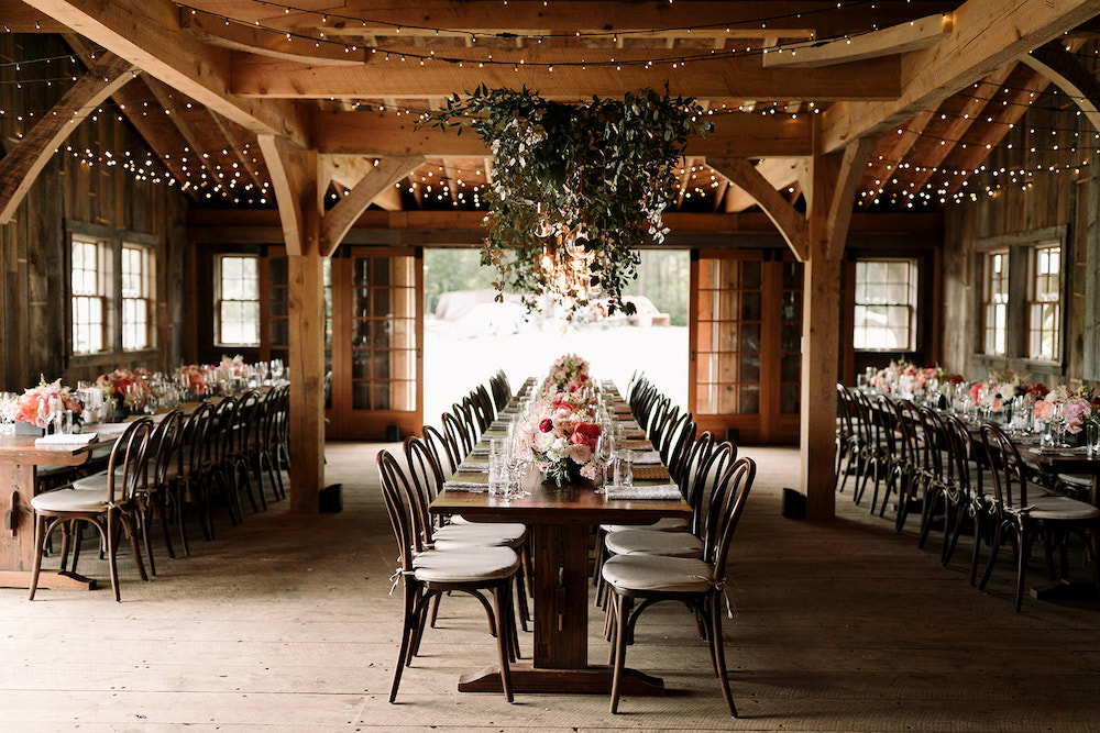 Intimate Maine wedding at the Barn at Primo.