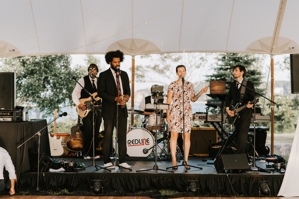 Live entertainment takes the stage at House Island wedding reception