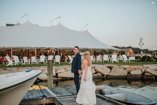 Copper Accented Nonantum Resort Wedding