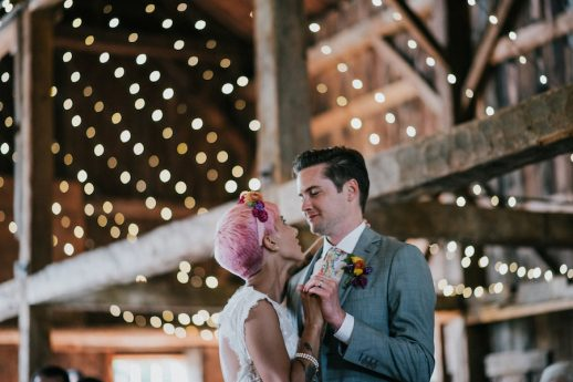 Rock N Roll Bride Features Colorful Maine Wedding